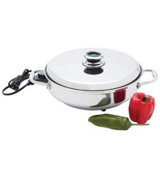 "Chef's Secret 12"" Round T304 Stainless Steel Deep Electric Skillet"
