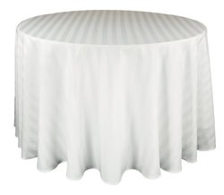 Riegel PSS-70RD-WHT Satin Stripe Tablecloth - White