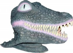Realistic Crocodile or Alligator Mask: Full Face Rubber Latex Costume Mask