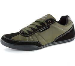 Alpine Swiss Marco Men's Retro Fashion Sneakers - Olive - Size:13