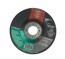 Hitachi 727732B10 80-Grit 7-Inch Flap Disc and 7/8-Inch Arbor, 10-Piece