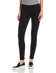 HUE Women's Stretch Cotton Leggings - Black - Size: Large