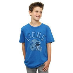 NFL Detroit Lions Youth Boy's Kickoff Crew Neck T-Shirt - Blue- Medium