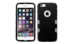 Insten Tuff Hybrid Case for iPhone 6/6s Plus - Black/Gray (2178075)