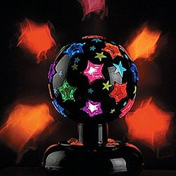 Revolving / Rotating Disco Strobe Party Light w/ Stars 110v