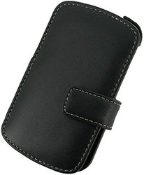 Monaco BlackBerry Q10 Book Type Leather Case - Non-Retail Packaging - Black