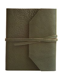 Eccolo Italian Leather Frieri Journal - Hunter Green
