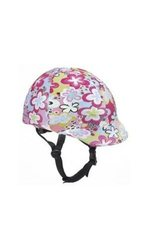 Ovation Zocks Horse Riding Helmet Cover - Lime w/ Purple Dots - Size: One