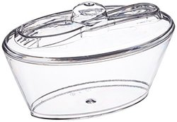 Oval Deli Cup with Spork in Lid Clear - 100 Count Box