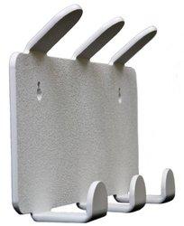 """TrippNT 1.5""""x6.5""""x2.3"""" 3-Position Plastic Apron & Lab Coat Hook w/ Magnet"""