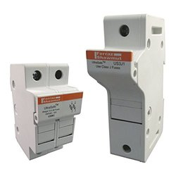Mersen USM UltraSafe Modular Fuseholder with Visual Indication, 1 Pole, For 1000VDC, 100kA DC, 32 Ampere, Midget Fuse