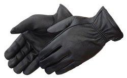 Grain Deerskin Leather Driver Glove w/ Keystone Thumb- 12-Pk - Black / XXS