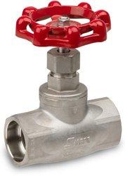 "Sharpe Valves 40276 Series Stainless Steel 316 Globe valve, Screwed Bonnet, Inline, 1-1/4"" Socket Weld"