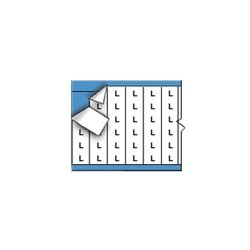 Brady AF-L-PK, 111131 Solid Letters Wire Marker Card (Pack of 5 pcs)