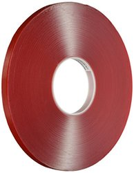 Avery Dennison AFB 6610C Double Sided Acrylic Foam Tape, Clear, 108 ft x 0.5 in, 39.4 mils Thick