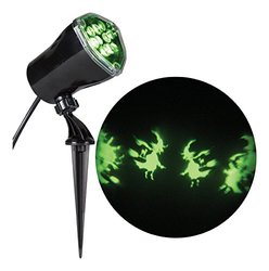 LightShow Whirl-A-Motion Witches w/ Cats Green Projection Spotlight(59678)