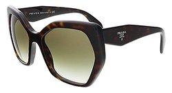 Prada Women's Designer Sunglasses - Brown Frame/Brown-Green Lens - 56mm