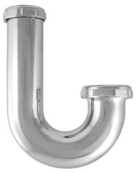 LDR 505 6003H 1-1/4-Inch by 1-1/2 Reducing High Inlet J-Bend, Chrome