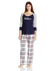 Tommy Hilfiger Women's Holiday Pajama Sleep Pants - Seedpearl - Size: L