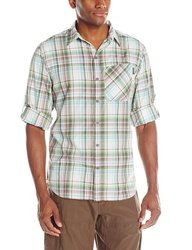Columbia Men's Insect Blocker Plaid Long Sleeve Shirt - White - Size: Small
