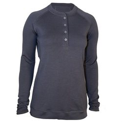 Showers Pass Women's Bamboo Merino Sport Henley Shirt - Grey - Size: Large