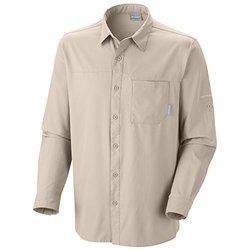 Columbia Men's Insect Blocker II Long Sleeve Shirt - Fossil - Size: Small