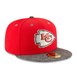 Unisex NFL Kansas City Chiefs 2016 59Fifty Fitted Cap - Red/Gray - 6 3/4