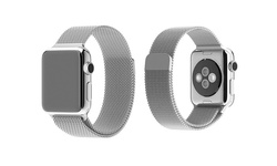 Tribeca Milanese Mesh Apple Watch Replacement Band  - Silver - Size: 38mm