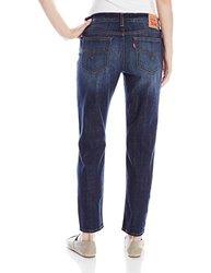 Levi's Women's Cuffed Boyfriend Jeans - Shark Blue - Size: 33W