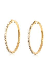 18K Yellow Gold Plated Hoop Earrings - 40mm