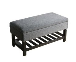 Kinfine Sky Storage Bench with Wood Slot Shelf