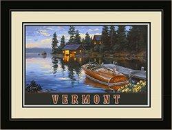 Northwest Art Mall DB-3143 LFGDM CCD Vermont Chris Craft Boat Dock Print