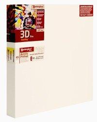 "Masterpiece 3D PRO 2-1/2"" Deep, 8 x 10 Inch, Vintage Acrylic Primed Belgian Linen Canvas"