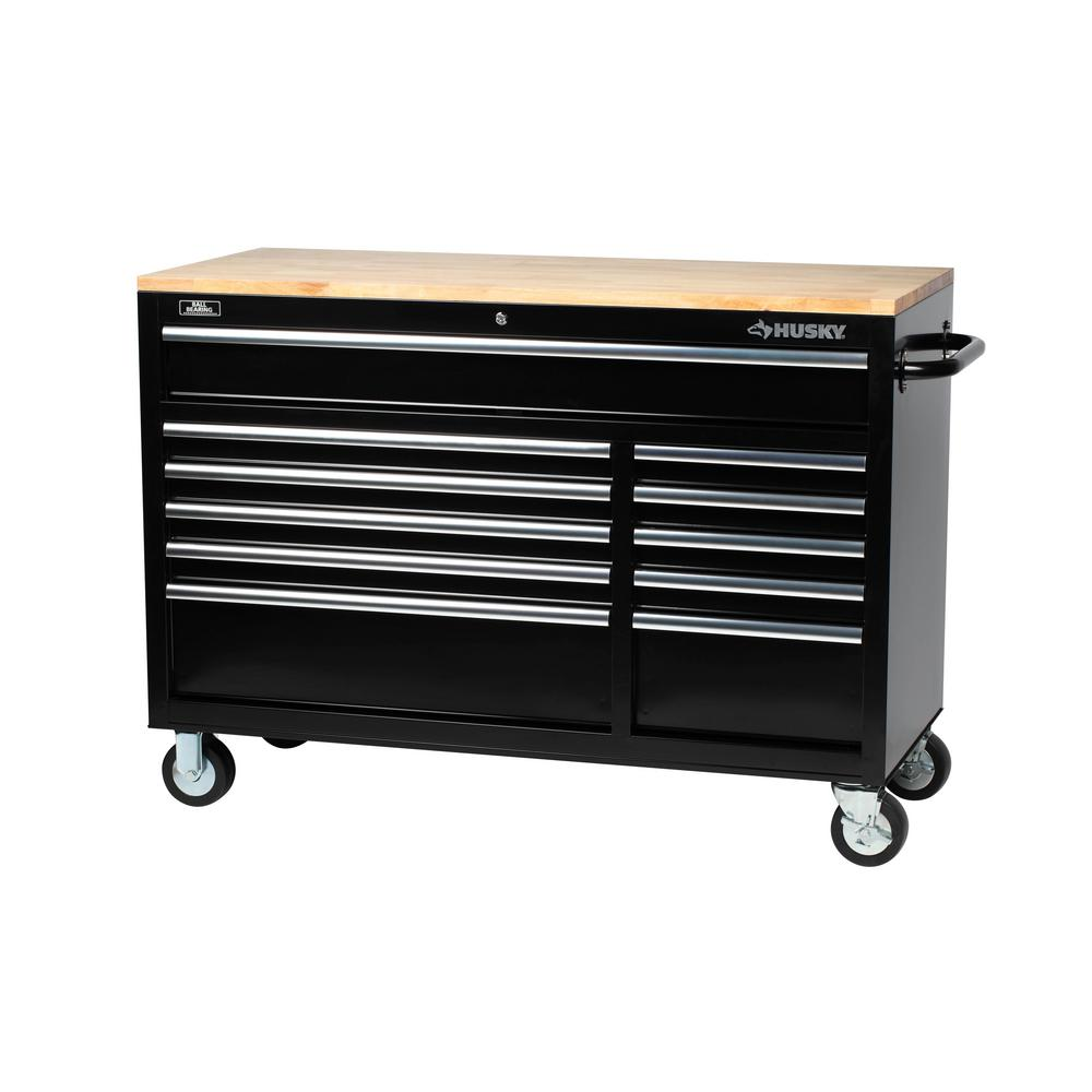 extra more husky top drawer garden with drawers black w air home workbench detail wood improvement metal tools deep hand mobile