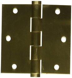 Baldwin 1030452I Square Mortise Hinge - Distressed Antique Nickel