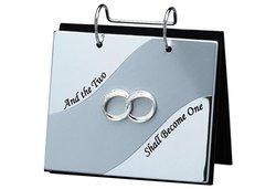 Fetco Home Decor Double Ring Flip Album - Silver