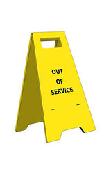 Heavy Duty Out of Service Floor Sign - Size: 24.63 x 10.75