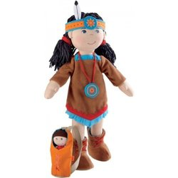 Haba American Indian Soft Doll Sihu with Baby