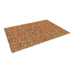 Kess Inhouse Allison Soupcoff Henson Outdoor Floor Mat - Multi Orange