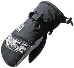Bob Dale Les Stroud Ski Mitt Glove with Heat Pack - Black - Size: Large
