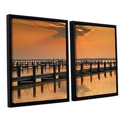 "ArtWall 2 PC Steve Ainsworth's Floater Framed Canvas Set - 32""x48"""