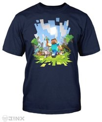 Minecraft Big Boys' Adventure Youth Tee - Navy - Size: Small