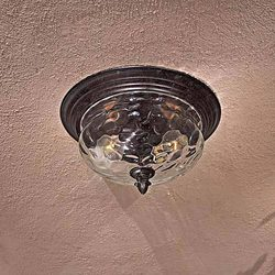 Minka Two Light Merrimack Flush Mount - Bronze