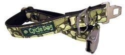 Cycle Dog Bottle Opener Dog Collar with Seatbelt Metal Buckle