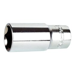 "Ampro 12 Point Deep Socket Drive - Chrome - Size: 1/2"" x 3/8"""