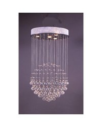 Control Brand The ''Bullock'' 4 Light Globe Crystal Chandelier