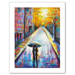 Art Wall Paris Back Street Magic Unwrapped Canvas Art