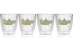 Tervis 12 oz South Florida University Emblem Tumbler - Set of 4 - Clear