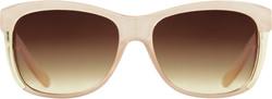 Starlight Women's Wayfarer Square Sunglasses - Nude/Brown