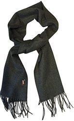 Polo Ralph Lauren Men's 100% Virgin Wool Scarf - Hunter Green